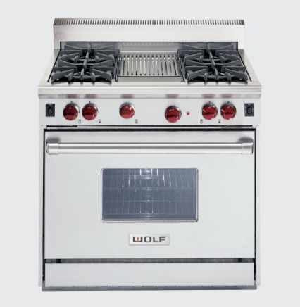 Is The 36 Quot Wolf Gas Range With The Pop Up Vent A Down Draft