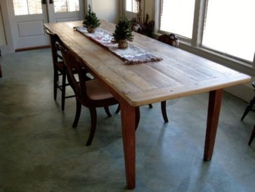 Old Pine Farm Table With Clear Finish Farmhouse Dining Tables boston