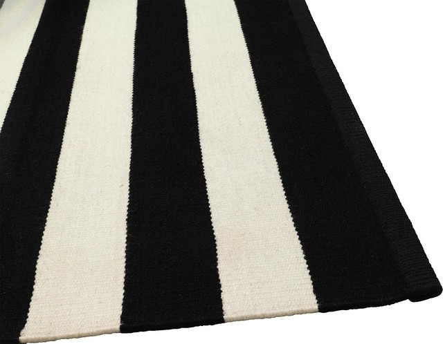 black and white wool stripe modern rugs other metro by forma