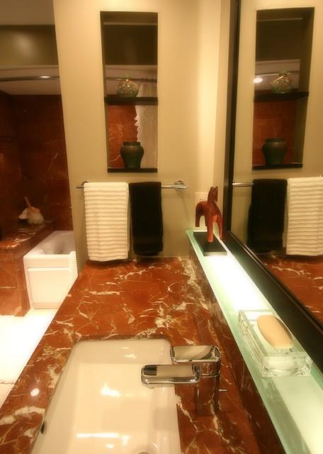 HiRise Red--Bath contemporary-bathroom