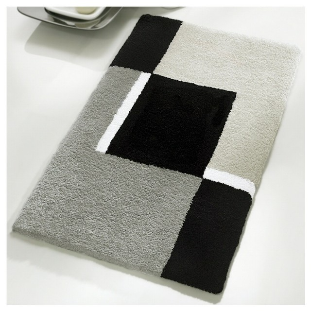 Luxury Contemporary Gray Bath Mat