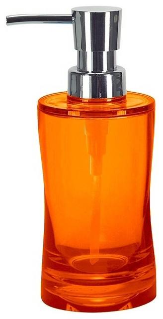 Colorful modern impact resistant liquid soap dispenser 8 for Bathroom accessories orange