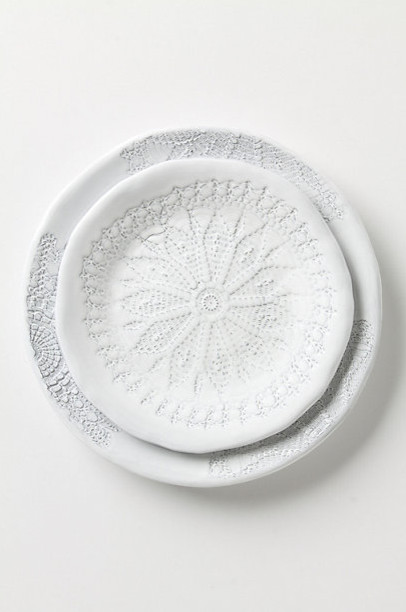 Penumbral Doily Dinner Plate contemporary-plates