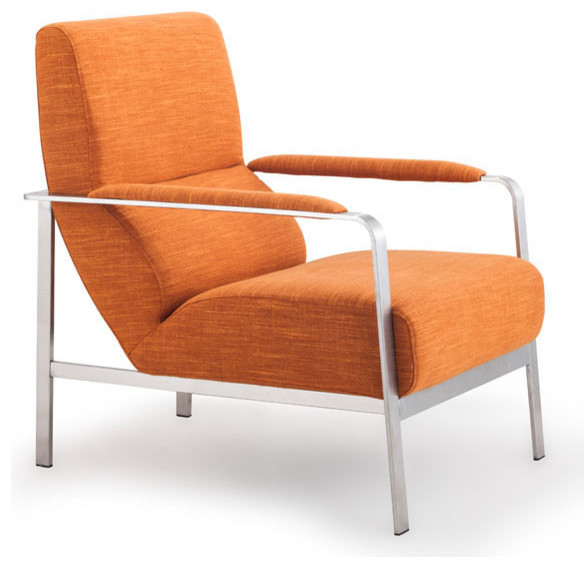Jonkoping Arm Chair Sunkist Orange Modern Armchairs And Accent Chairs