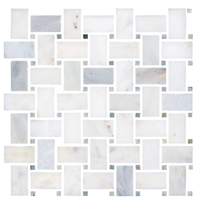 Biltmore Tumbled Mosaic  bathroom tile