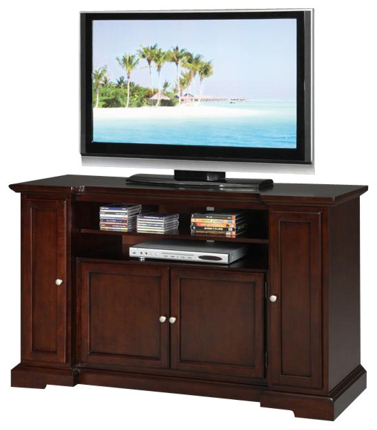 55 in. Entertainment Credenza in Espresso Finish - Contemporary - Media Storage - by ivgStores