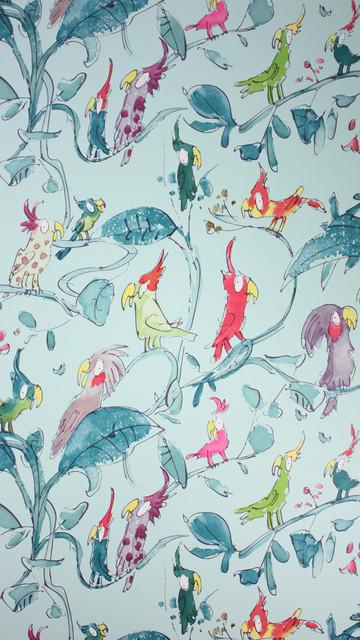 Cockatoos W6060-04 Wallpaper eclectic-wallpaper