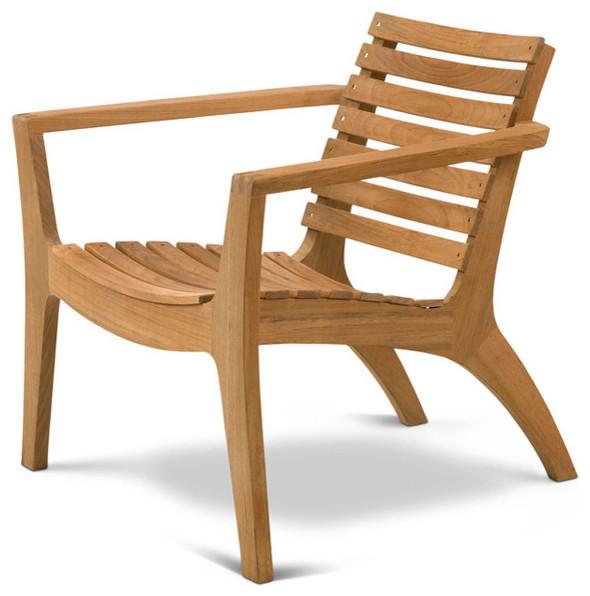 Regatta Lounge Chair Teak Modern Outdoor Lounge