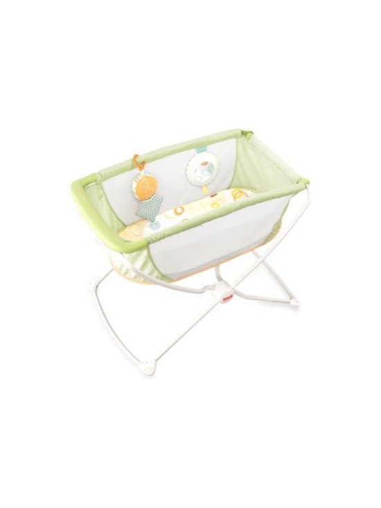 Fisher Price - Fisher-Price Rock 'n Play Portable Bassinet - With a lightweight frame, easy fold and flat, elevated sleeping surface, the Fisher-Price Rock 'n Play Portable Bassinet is designed as a portable sleeping environment that is right for baby.