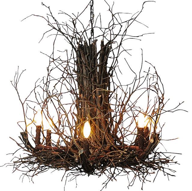 Appalachian Branch Chandelier Rustic Chandeliers by