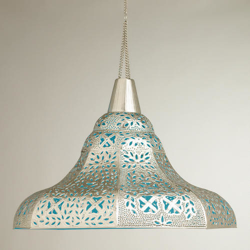 Oversized Punched Metal Pendant Lamp