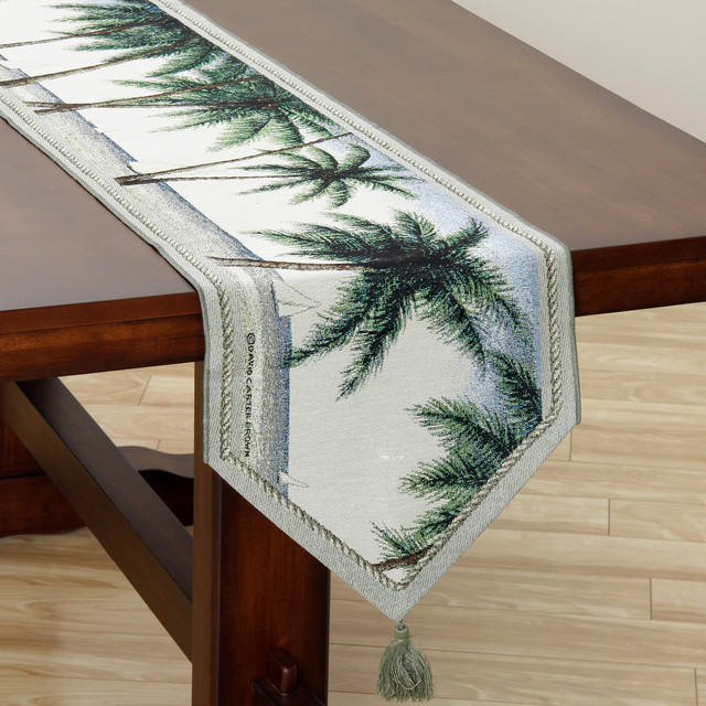 Old Key West 72-inch Table Runner - contemporary - tablecloths