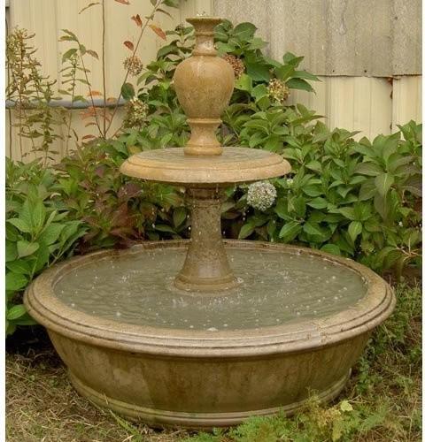 Contemporary Backyard Fountains : Williams Garden Fountain  Contemporary  Outdoor Fountains And Ponds