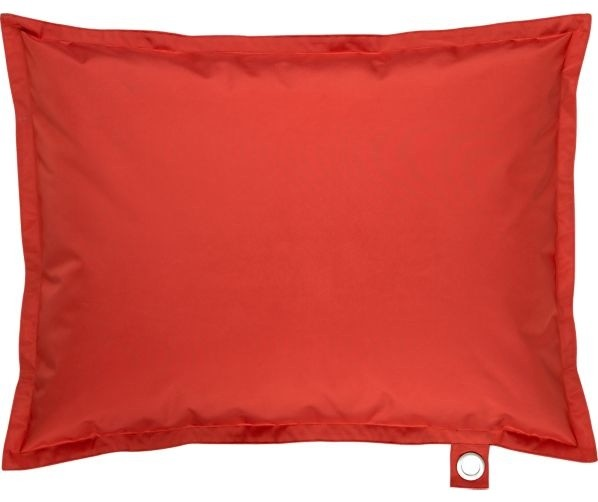 Chill Red Floor Pillow - Contemporary - Floor Pillows And Poufs - by Crate&Barrel