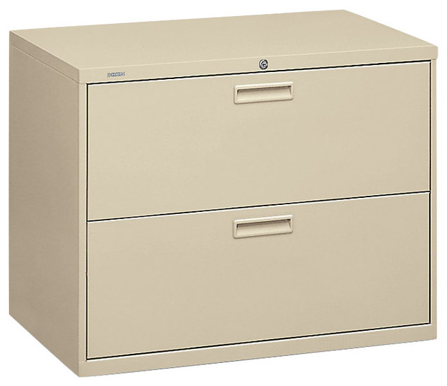 Basyx 400 2-Drawer Lateral File Cabinet - Contemporary - Filing Cabinets - by SmartFurniture
