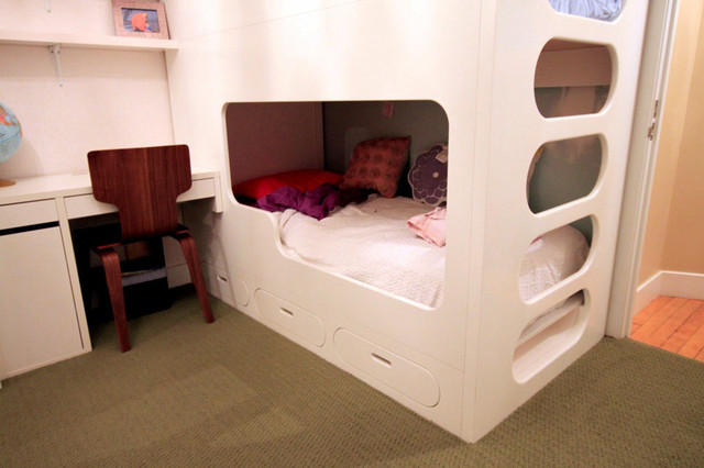 Bunk bed modern bunk beds new york by nr wood for Modern kids furniture