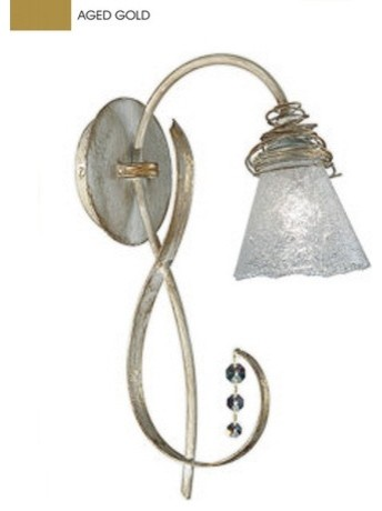 Siberia Wall Sconce with Clear Glass in Aged Gold modern-wall-lighting