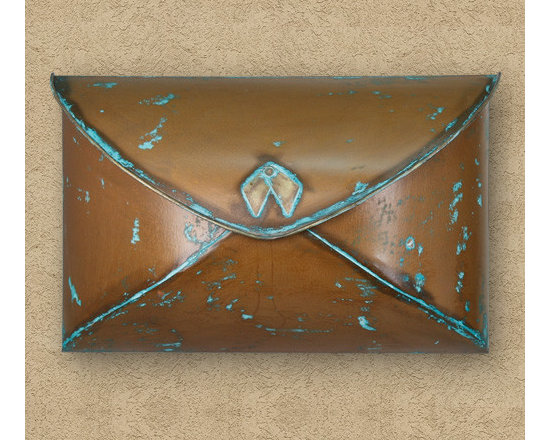 Home Accents - Verde Copper Envelope Wall Mount Mailbox, Signature Hardware