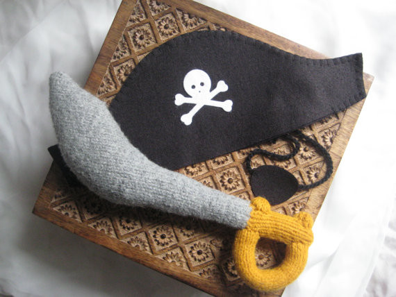 Pirate Costume Set By Lumbo Gimbo Crafts - Traditional - Kids Toys And Games - by Etsy