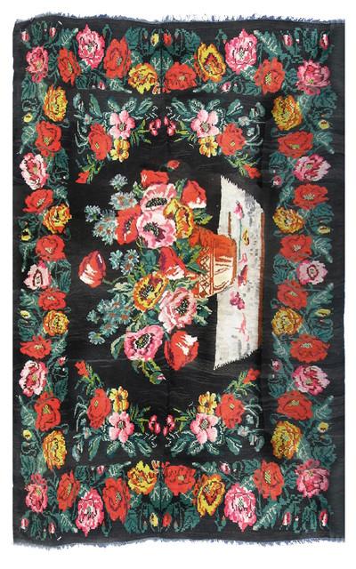 T264 - Moldavian Kilim traditional-carpet-tiles