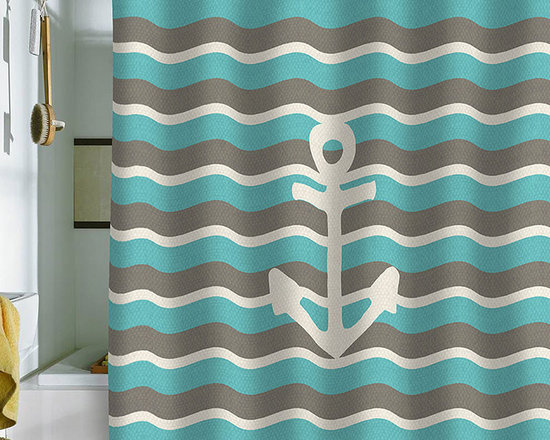 DENY Designs Bianca Green Anchor 1 Shower Curtain