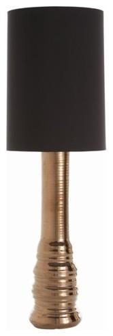 Arteriors Alvin Metallic Bronze Ceramic Lamp contemporary-lamp-shades