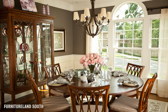 Custom designed traditional home traditional dining Traditional home decor images