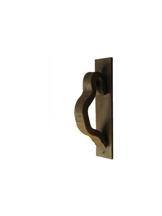 Railroadware - Rail Anchor Door Handle on Escutcheon Plate - The Rail Anchor Door Handle on Escutcheon Plate