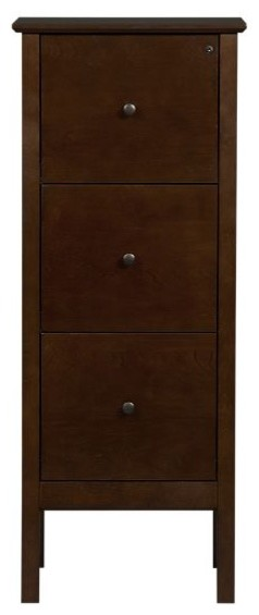 Ainsworth Cognac Triple Filing Cabinet contemporary-filing-cabinets