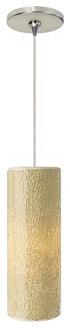 Veil Latte Glass Satin Nickel LED Tech Lighting Mini Pendant contemporary-pendant-lighting