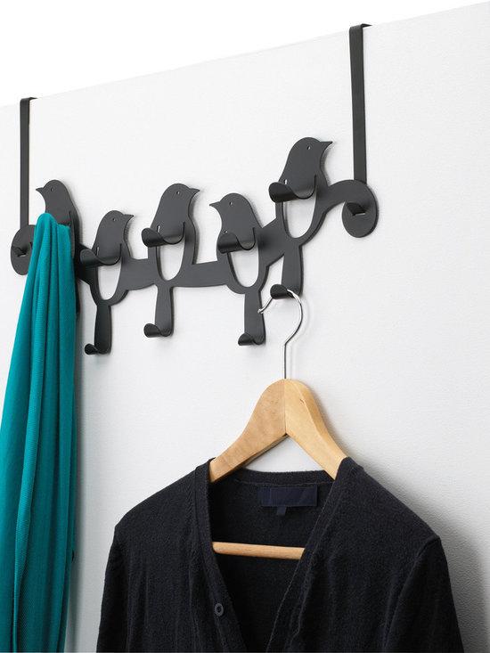 Birdseye Over-the-Door Rack, Black -