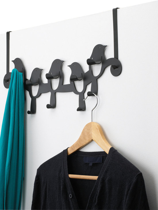 Birdseye Over-the-Door Rack, Black -