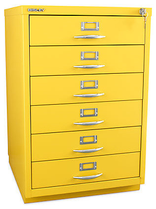 Bisley 6-Drawer Classic Front Filing Cabinet - Contemporary - Filing Cabinets - other metro - by ...
