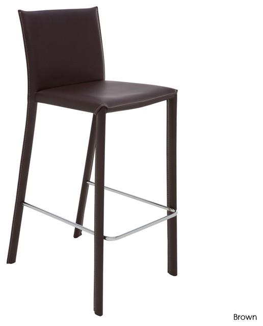 Bridget Counter Stool, Set of 2, Brown contemporary-bar-stools-and-counter-stools