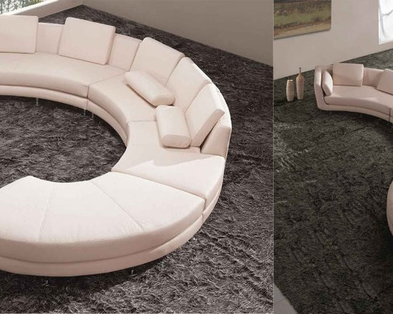 LOOSE FURNITURES - CUSTOMIZED CURVED / SECTIONAL LEATHER SOFA