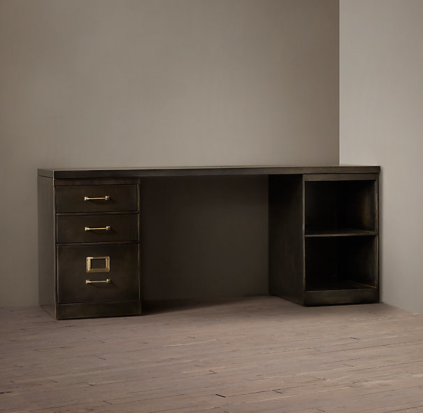 ... Modular Desk System With 3-Drawer File Cabinet industrial-desks