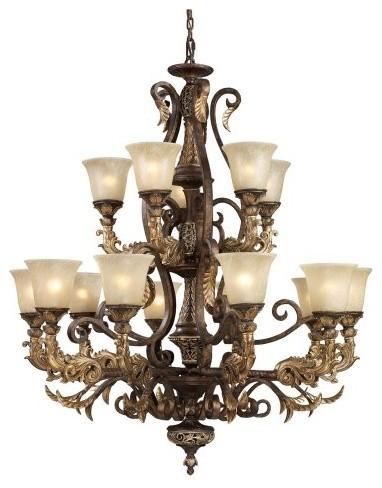 ELK Lighting Regency Chandelier 2166/10+5 - 41W in. traditional-chandeliers