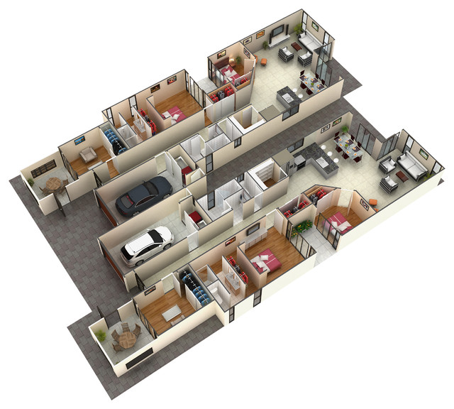 modern home plans 3d images floor plans cabin house trend home design and decor