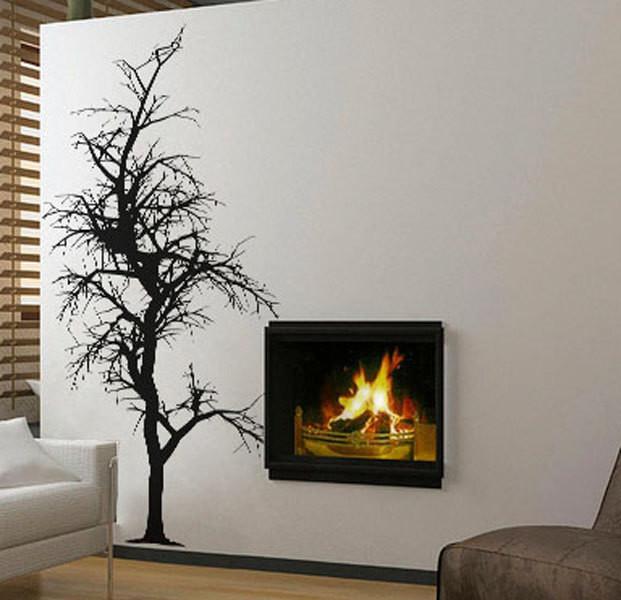 Removable Vinyl Wall Decor : Bare tree wall decal vinyl decor art sticker removable