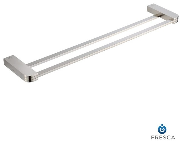 """Fresca Solido 20"""" Double Towel Bar - Brushed Nickel modern-towel-bars-and-hooks"""
