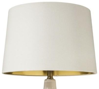 nate berkus gold lining lampshade large white. Black Bedroom Furniture Sets. Home Design Ideas
