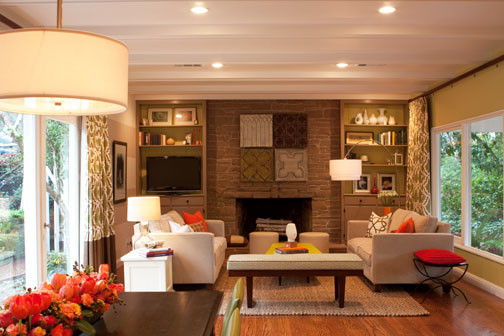Orinda Family Room contemporary living room