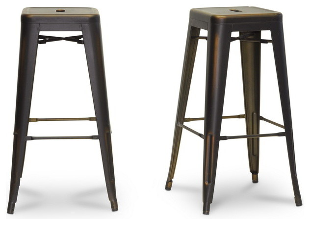 Baxton Studio French Industrial Modern Bar Stool in  : contemporary bar stools and counter stools from www.houzz.com size 632 x 460 jpeg 41kB