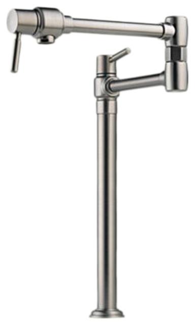 Brizo 62720LF-SS European Stainless Steel Deck Mount Pot Filler modern-kitchen-faucets
