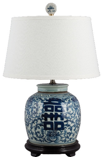 Porcelain blue and white lamp - Asian - Table Lamps - by ...