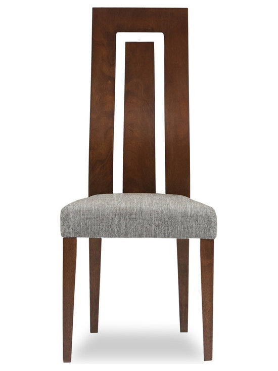 Bryght - Haidee Fabric Upholstered Dining Chair - The Haidee dining chair boasts a sleek modern design that adds understated elegance to your dining room. With its contemporary two-dimensional, curved and extended backrest, the Haidee dining chair lends an air of sophistication to your fine dining needs.