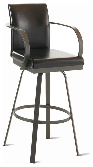 Amisco Lance Upholstered Back Swivel Stool with Arms 41436  : transitional bar stools and counter stools from www.houzz.com size 358 x 640 jpeg 28kB
