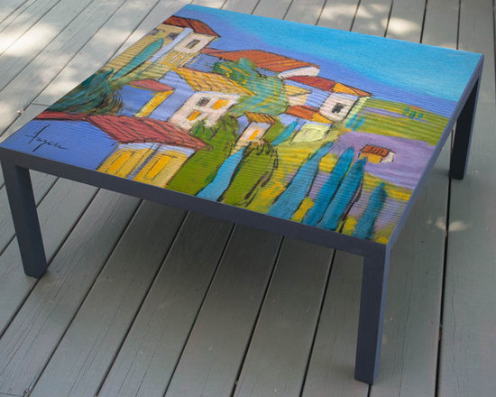 Hand Painted Coffee Table, made to order, The Hideaway design -