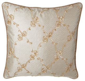 Isabella Collection by Kathy Fielder Rosette Swirl European Sham traditional-pillowcases-and-shams