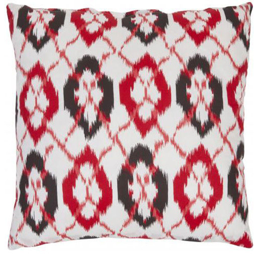 22-Inch Whiteand Red Decorative Pillows -Set of Two modern-bed-pillows